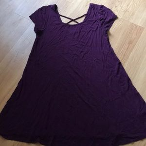 Purple T-shirt dress